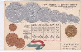 CARD MONETE PAESI BASSI (OLANDA) BANDIERA IN RILIEVO COME DA SCANNER   -FP-N-2-0882-19193 - Coins (pictures)