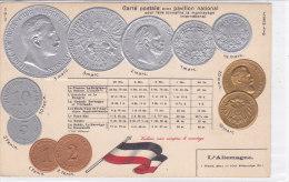 CARD MONETE GERMANIA  BANDIERA IN RILIEVO COME DA SCANNER   -FP-N-2-0882-19195 - Coins (pictures)