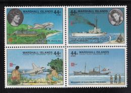 Marshall Islands MNH Scott #C20a Block Of 4 44c Earhart Flight Anniversary - Capex 87 - Marshall