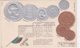 CARD MONETE PORTOGALLO BANDIERA IN RILIEVO COME DA SCANNER   -FP-N-2-0882-19196 - Coins (pictures)