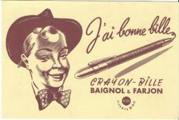 Crayon-Bille / BAIGNOL & FARJON / Vers 1945-1955        BUV77 - Stationeries (flat Articles)