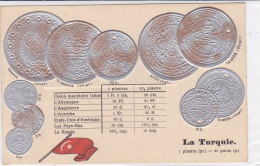 CARD MONETE TURCHIA BANDIERA IN RILIEVO COME DA SCANNER   -FP-N-2-0882-19198 - Coins (pictures)