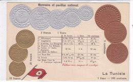 CARD MONETE TUNISIA BANDIERA IN RILIEVO  COME DA SCANNER   -FP-N-2-0882-19200 - Coins (pictures)