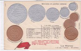 CARD MONETE MAROCCO  BANDIERA IN RILIEVO  PIEGHINA ININFLUENTE  COME DA SCANNER   -FP-N-2-0882-19201 - Coins (pictures)