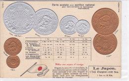CARD MONETE GIAPPONE  BANDIERA IN RILIEVO    COME DA SCANNER   -FP-N-2-0882-19203 - Monete (rappresentazioni)