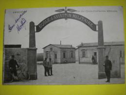 Cpa De 01 AMBERIEU Entrée De L'école D'aviation Militaire Circulé En 1921  Ttb - France