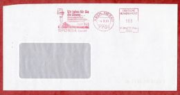 Brief, Francotyp-Postalia F20-7464, Sporda, Basketballspieler, 100 Pfg, Aach 1991 (43739) - [7] République Fédérale