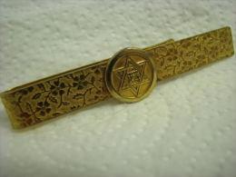 ZION * MAGEN DAVID GOLD PLATED TIE CLASP / MONEY CLIP - Gioielli & Orologeria