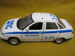 Vintage Traffic Police MILITIA ~ Russian Car LADA 110 ~ Scale 1/36 - Modèles R/C