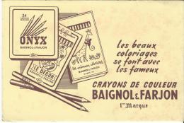 Crayons De Couleur  / BAIGNOL & FARJON /Les Beaux Coloriages  Vers 1945-1955        BUV78 - Stationeries (flat Articles)