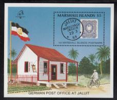 Marshall Islands MNH Scott #231 Souvenir Sheet $1 1st Islands Postmark, Jaluit Post Office - PhilexFrance 89 - Marshall