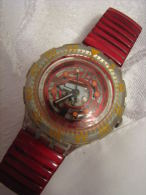 Vintage RED MARINE SWATCH 1994 Watch - Watches: Old