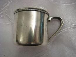 Vintage Japanese Sterling Silver Mug By ASAHI Japan - Argenteria