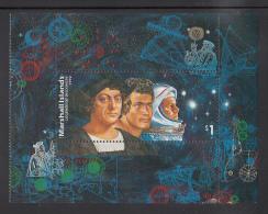 Marshall Islands MNH Scott #424 $1 Legends Of Discovery - Columbus, Sailor, Astronaut - Marshall
