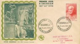 BC 483 FRANKRIJK 1954 BOURDELLE  ZIE   SCAN - 1950-1959