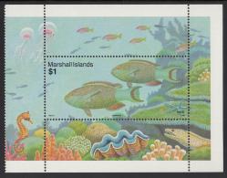 Marshall Islands MNH Scott #440 $1 Parrotfish - Reef Life - Marshall