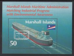 Marshall Islands MNH Scott #571 Souvenir Sheet 50c Christening Of Mobil Super Tanker 'Eagle' - Marshall
