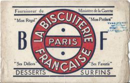 La Biscuiterie Française/ Desserts Surfins/Paris / Hurey / EPERNAY/Marne /Vers 1920-1930      BUV81 - Cake & Candy