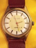 1982 POLJOT RUSSIAN GOLD PLATED QUARTZ WATCH - Montres Anciennes