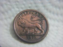 1813 HALF PENNY HALFPENNY LION TOKEN - 1662-1816 : Anciennes Frappes Fin XVII° - Début XIX° S.