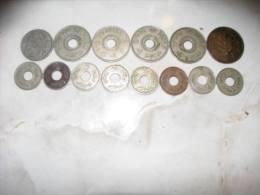14 COINS PALESTINE ERETZ-ISRAEL 2 5 10 50 MILS - Israel