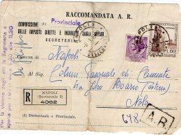1960 STORIA POSTALE RACCOMANDATA ORGANIZZAZIONE INTERNAZIONALE DEL LAVORO+SIRACUSANA DA NAPOLI---R445 - 1946-60: Storia Postale