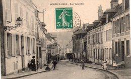 Cpa  76  Montivilliers , Rue Vatteliere Animee - Montivilliers