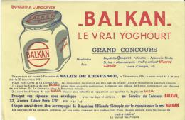 Le Vrai Yoghourt/ BALKAN/ Salon De L´Enfance/ Grand Concours /Vers 1945-1955      BUV86 - Dairy