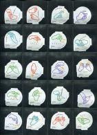 619 B - Langage des signes (Main) Serie complete de 20 opercules Suisse