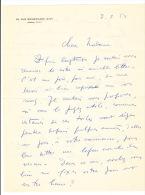 HAMBOURG (André). - Célèbre Peintre Contemporain (1909-1999).  Lot De Deux Lettres Autographes Signées : La Première à U - Autographs