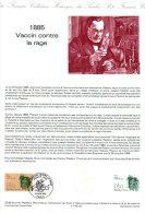 """FRANCE 1985 : Document Officiel N° 22-85 """" LOUIS PASTEUR """" N° YT 2371. DPO - Louis Pasteur"""