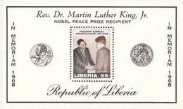 Liberia,  Scott 2014 # C180,  Issued 1968,  S/S Of 1,  MNH,  Cat $ 3.75 Kennedy - Liberia
