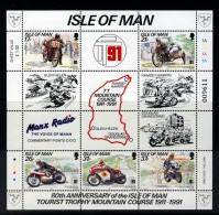 GB ISLE OF MAN IOM - 1991 TT RACES MINIATURE SHEET FINE MNH ** SG MS483 - Isle Of Man