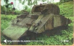 Solomon Island - SOL-02, GPT, Shereman Tank, 20SI$, 1992, Used - Solomon Islands