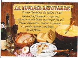 CPSM La Fondue Savoyarde - Recipes (cooking)