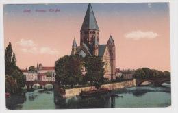 (RECTO / VERSO) METZ EN 1919 - EVANG KRICHE - Metz