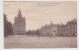 (RECTO / VERSO) METZ EN 1925 - N° 78 - PLACE DU THEATRE ET EGLISE REFORMEE - Metz