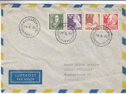 Suède - Lettre De 1951  - Oblitération Vannäs - Storia Postale