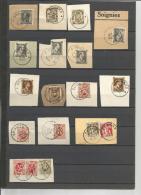 Belgique - 18 Timbres Obl. SOIGNIES - N189 - Marcophilie
