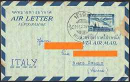 THAILANDIA - AEROGRAMME FROM HUA HIN TO ITALY / BUSTO ARSIZIO - 21.12.2500 / 19.12.1957 - Thailand
