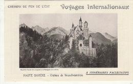 En Deux Feuiilet Pub Chemins De Fer De L'est Haute Bavière Chateau De Neuschwanstein ... - Tourismus