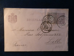 38/823   BRIEFKAART NAAR LILLE  1897  AMB. STEMPEL AMSTERDAM-ANTWERPEN - Postal Stationery