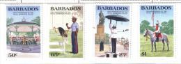 Z847 - BARBADOS : 150th Anniversary Royal Police N. 633/636 *** - Barbados (1966-...)