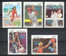 Mua323 SPORT OLYMPISCHE SPELEN BASKETBALL TENNIS BOXING BASEBALL RUNNING OLYMPIC GAMES BARCELONA LAOS 1992 PF/MNH # - Ete 1992: Barcelone