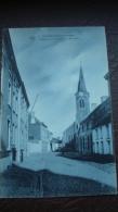 RHODE-SAINT-GENESE - L'église Et Chaussée De BRUXELLES  En 1907 - Rhode-St-Genèse - St-Genesius-Rode
