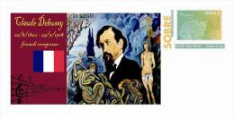 Spain 2013 - History Of Classical Music - Claude Debussy Special Prepaid Cover - Musica