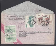 PEROU - 1954 -  LETTRE DE LIMA A DESTINATION DE PARIS - - Peru