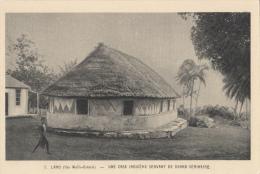 BF2393 Wallis Oceania Une Case Indigene Servant De Grand Seminaire 2 Scans - Wallis-Et-Futuna