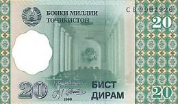 Tajikistan 20 Diram    1999  Pick 12 UNC - Tadzjikistan