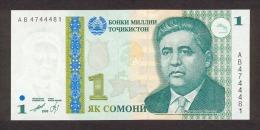 Tajikistan 1 Somoni  1999  Pick 14 UNC - Tajikistan